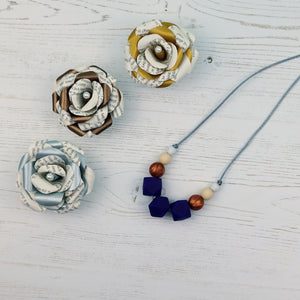 Lupin Dreams: Flora Teething Necklace - Pebbles and Lace