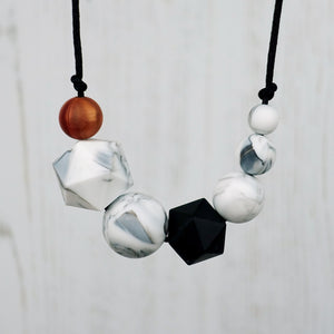 Emmeline: Inspirations Teething Necklace - Pebbles and Lace