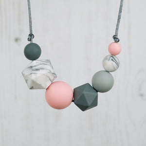 Florence: Inspirations Silicone Teething Necklace - Pebbles and Lace