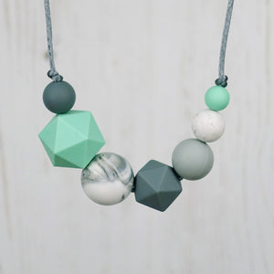 Helen: Inspirations Teething Necklace - Pebbles and Lace