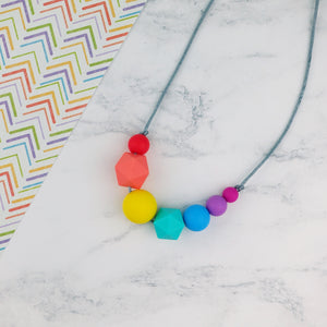 Ellen: Inspirations Teething Necklace - Pebbles and Lace