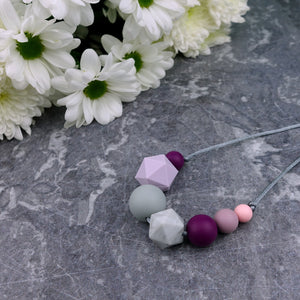 Rosalind: Inspirations Teething Necklace - Pebbles and Lace