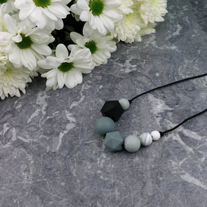 Ada: Inspirations Teething Necklace - Pebbles and Lace