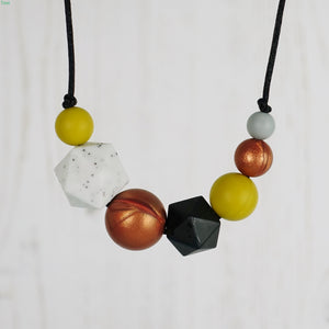 Amelia: Inspirations Teething Necklace - Pebbles and Lace