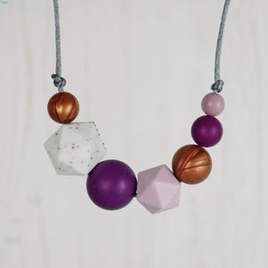 Elizabeth: Inspirations Teething Necklace - Pebbles and Lace