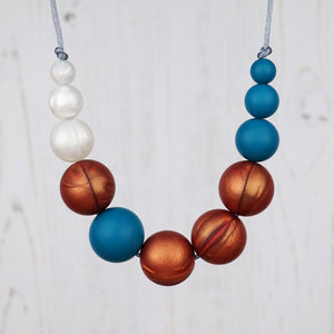 Phoebe: Lunar Teething Necklace - Pebbles and Lace