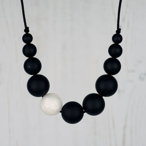 Oberon: Lunar Teething Necklace - Pebbles and Lace