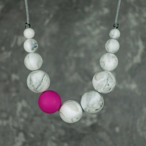 Elara: Lunar Teething Necklace. [Various Colour Options] - Pebbles and Lace