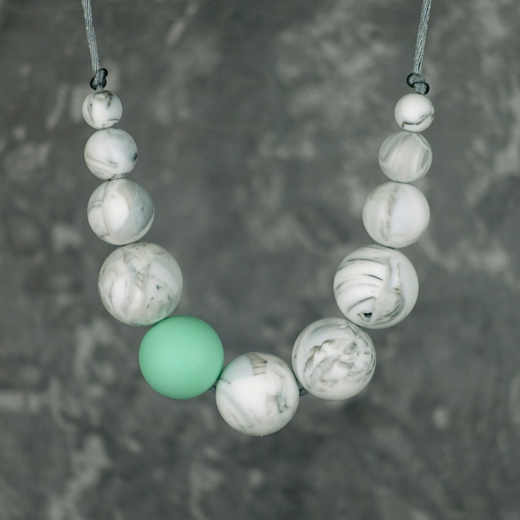 Elara: Lunar Teething Necklace. [Various Colour Options]