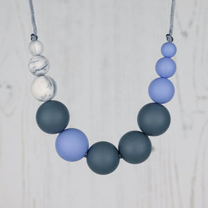 Titan: Lunar Teething Necklace - Pebbles and Lace