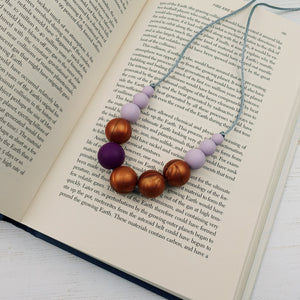 Miranda: Lunar Teething Necklace - Pebbles and Lace