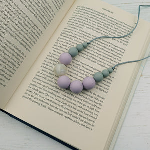 Callisto: Lunar Teething Necklace - Pebbles and Lace