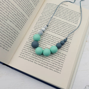 Kerberos: Lunar Teething Necklace - Pebbles and Lace