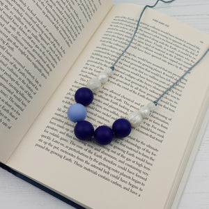 Charon: Lunar Teething Necklace - Pebbles and Lace
