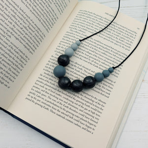 Styx: Lunar Teething Necklace - Pebbles and Lace