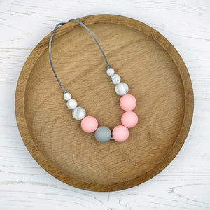 Cordelia: Lunar Teething Necklace - Pebbles and Lace
