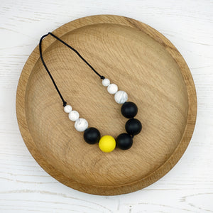 Prospero: Lunar Teething Necklace - Pebbles and Lace
