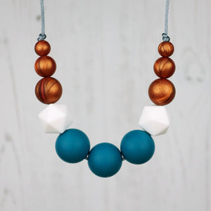 Artemis: Odyssey Silicone Teething Necklace - Pebbles and Lace