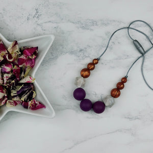 Athena: Odyssey Teething Necklace - Pebbles and Lace