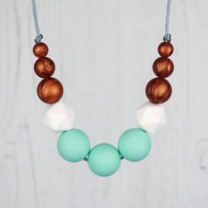 Gaia: Odyssey Teething Necklace - Pebbles and Lace