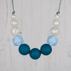 Zeus: Odyssey Teething Necklace - Pebbles and Lace