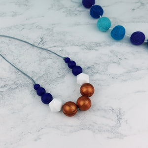 Poseidon: Odyssey Teething Necklace - Pebbles and Lace