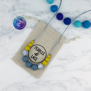 Apollo: Odyssey Teething Necklace - Pebbles and Lace