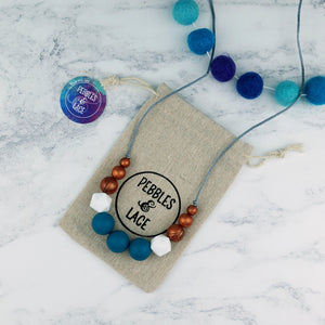 Artemis: Odyssey Teething Necklace - Pebbles and Lace