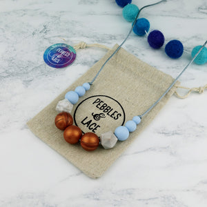 Hermes: Odyssey Teething Necklace - Pebbles and Lace