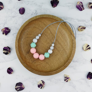 Hestia: Odyssey Teething Necklace - Pebbles and Lace