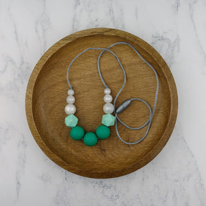 Demeter: Odyssey Teething Necklace - Pebbles and Lace