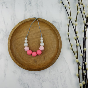 Aphrodite: Odyssey Teething Necklace - Pebbles and Lace