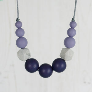 Cronus: Odyssey Teething Necklace - Pebbles and Lace