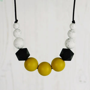 Helios: Odyssey Teething Necklace - Pebbles and Lace