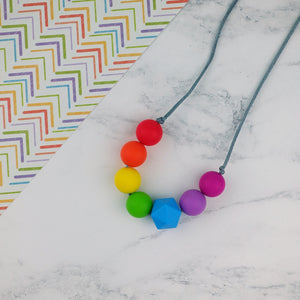 Quirky Little Love: Radiant Rainbows Teething Necklace - Pebbles and Lace