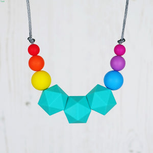 Electra: Stellar Teething Necklace - Pebbles and Lace