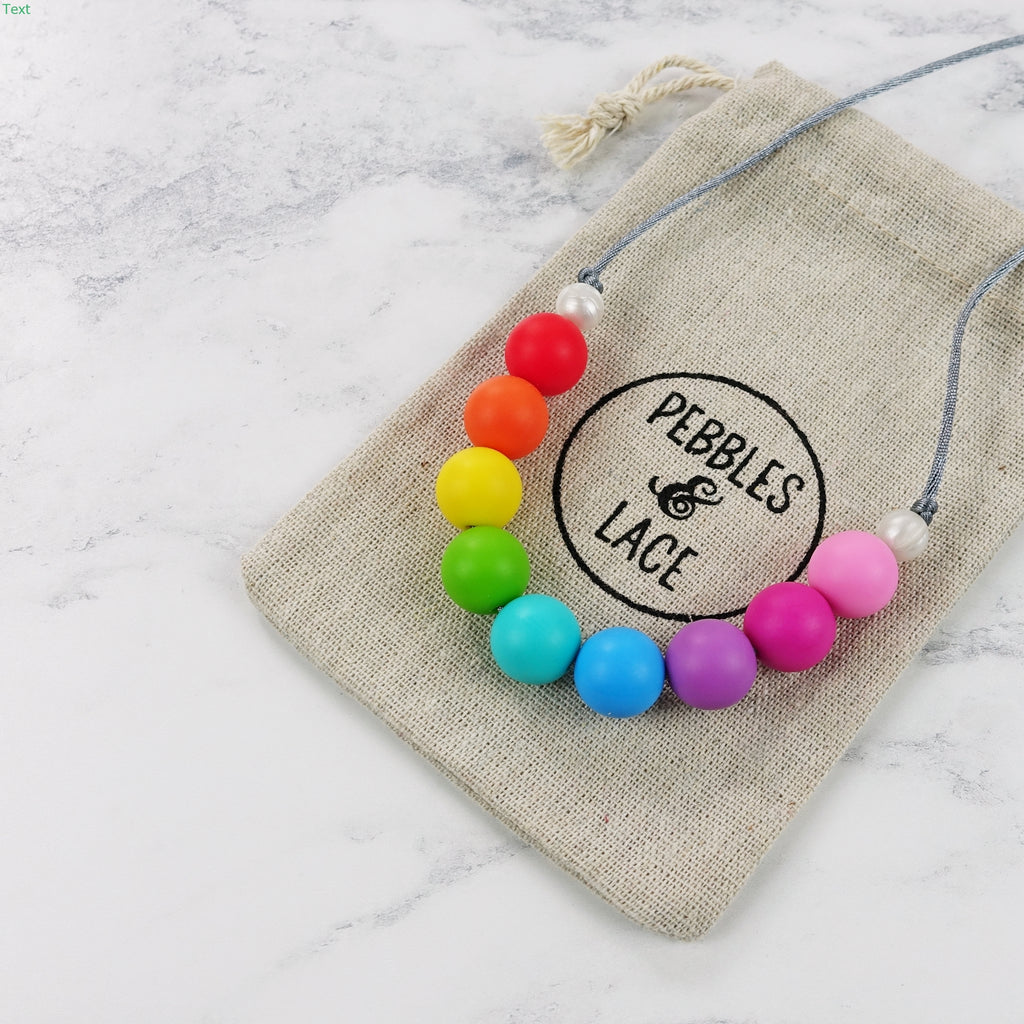 Party Time: Radiant Rainbows Teething Necklace