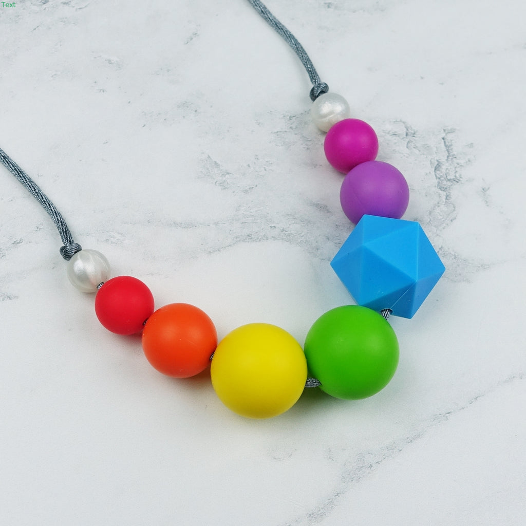 Geo Pop: Radiant Rainbows Teething Necklace