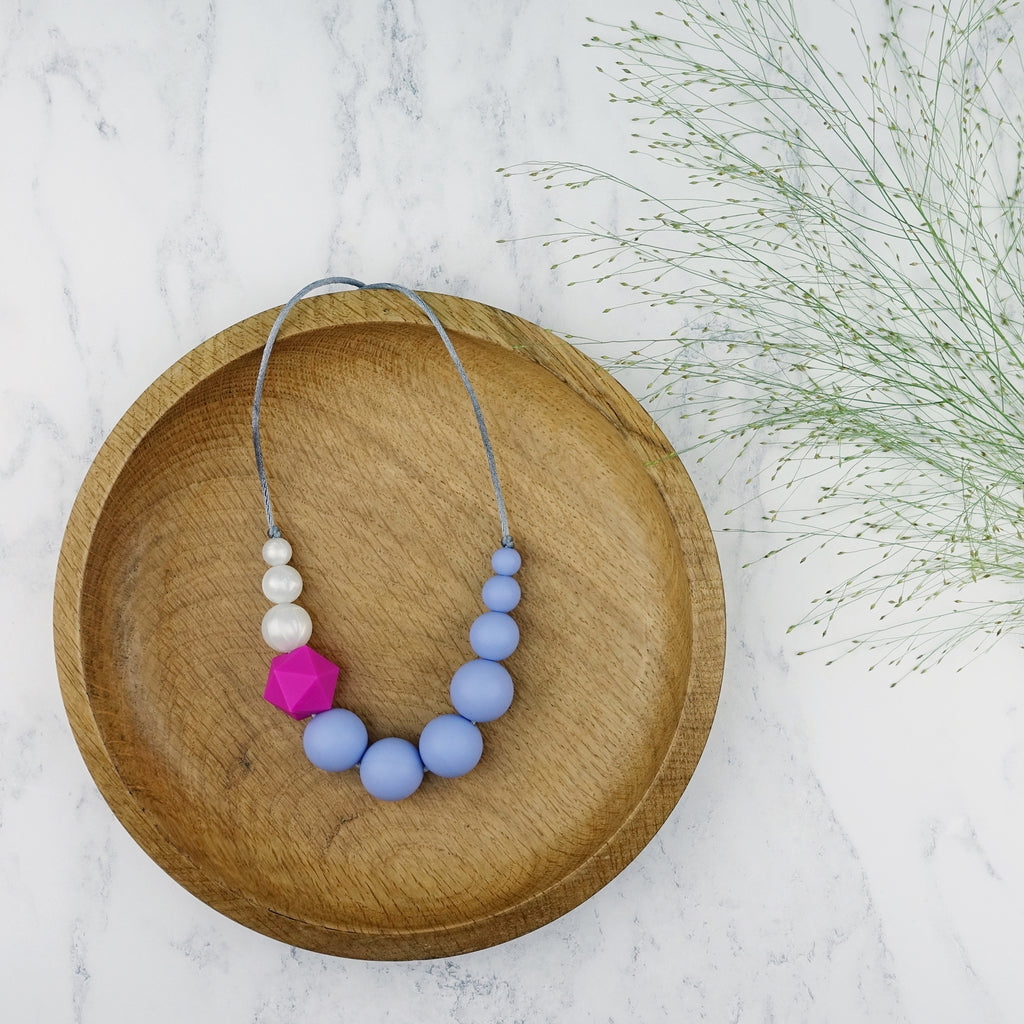 Warbler: Sky High Teething Necklace