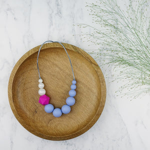 Warbler: Sky High Teething Necklace - Pebbles and Lace