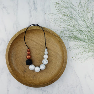 Chaffinch: Sky High Teething Necklace - Pebbles and Lace