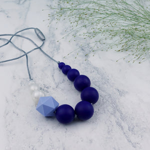 Bunting: Sky High Teething Necklace - Pebbles and Lace