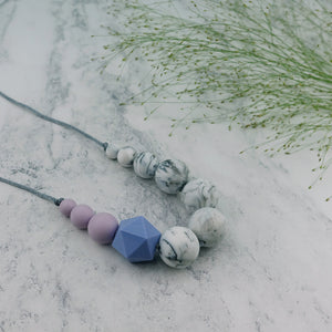 Siskin: Sky High Teething Necklace - Pebbles and Lace