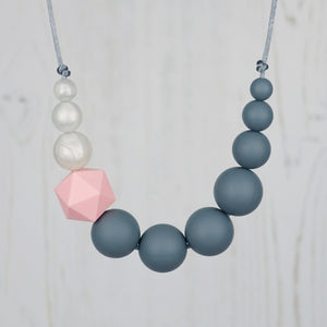 Robin: Sky High Teething Necklace - Pebbles and Lace