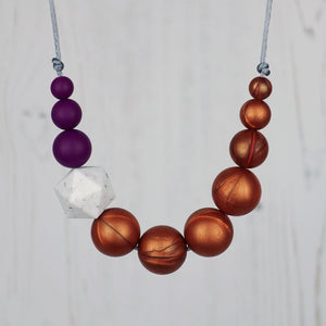 Sparrow: Sky High Teething Necklace - Pebbles and Lace