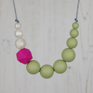 Goldfinch: Sky High Teething Necklace - Pebbles and Lace
