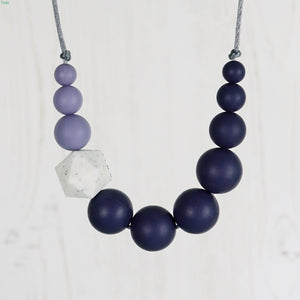 Starling: Sky High Teething Necklace - Pebbles and Lace