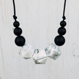 Deneb: Stellar Teething Necklace - Pebbles and Lace