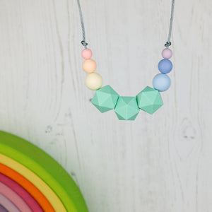 Atlas: Stellar Teething Necklace - Pebbles and Lace