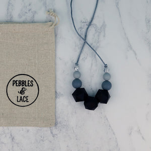 Bellatrix: Stellar Teething Necklace - Pebbles and Lace